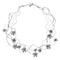 Flora Silver Necklace image