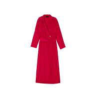 Long Sleeve Trench Duster - Pink & Purple image