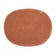 Hand Knitted Place Mat Set Of 4 - Cinnamon image