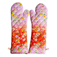 Pink/Orange Ombre Quilted Oven Mitts image