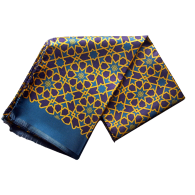 Silk Scarf in Mosaic Pattern - Green image