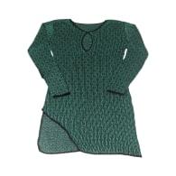 Delika Asymmetric Dress - Green/Black image