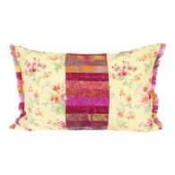 Pastel Pink Patchwork Oblong Cushion image