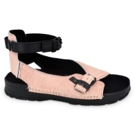 Athens Flat Leather Sandals - Pink & Purple image