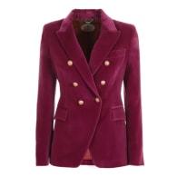 Purple Crossed Blazer Constantine image