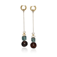 Coco Earrings With Vintage Coconut Beads - Limited Edition image