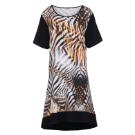 Short Sleeve Tiger Print Dress image