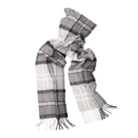 Oban Alba Grey Cashmere Scarf image