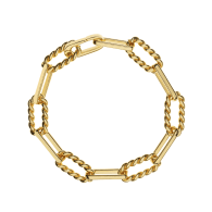 Lilly Twisted Cable Link Gold Chain Bracelet image