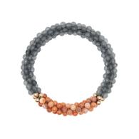 Beaded Gemstone Bracelet - Quartz & Agate & Gold image