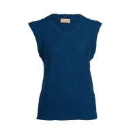 Diamond Pattern Sleeveless Sweater - Blue Silk Cashmere image