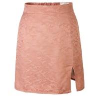 Split Peach Jacquard Mini Skirt - 90s Style image