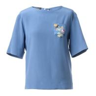Silk Top In Blue - Belle Époque image