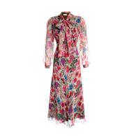 Long V-Neck Floral Dress image