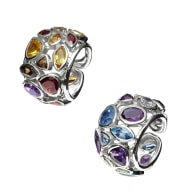 Borealis Fire & Ice Jewelled Rings - Ice Blue & Green image