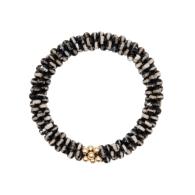 Beaded Gemstone Bracelet - Agate & Gold image