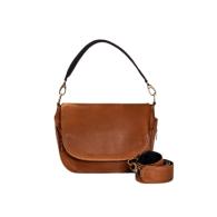 Aria Leather Crossbody In Tan image