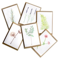 Botanical Greeting Cards Set With Flowers & Herbs image