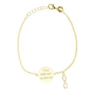 My Always Infinity Bracelet In Yellow image