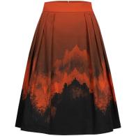 Flame Print A-Line Skirt image