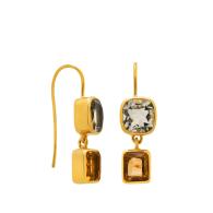 Belle Epoque Green Amethyst & Citrine Earrings image