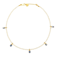 Vivi Kyanite Charm And Pearl Necklace image