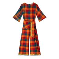 Jheel Jumpsuit in Chettinad Handwoven cotton image