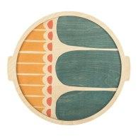 Shifen Large Round Plywood Tray image