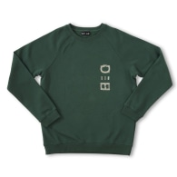 Designer Embroidered Sweater Forest Green Signature DUO-HUE image