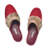 Penthouse Handmade Velvet Slippers - Red image