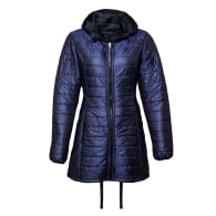 Long Reversible Wool filled Puffer jacket in Blue image