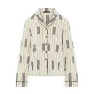 Eve Long sleeved pyjama top - White image