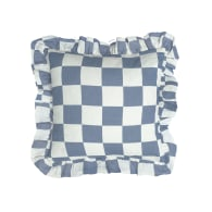 Azure Checkerboard Cushion Cover image
