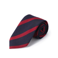 Tabit Oxford Stripe Silk Tie image