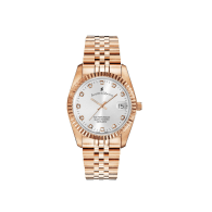 Jacques Du Manoir Swiss Made Inspiration Rose Gold IP Case And Bracelet 36mm Watch With Date image