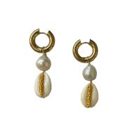 Sundowner Cowrie Pearl Earrings image