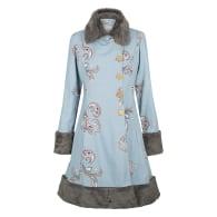 Ember Linen Coat - Paisley Print Cloud image