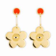 Flower Statement Earrings image