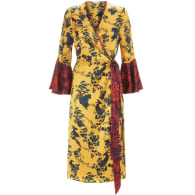 Netil Wrap Dress In Garden Puppets Mixed Print image