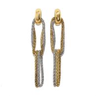Two-Tone Rope Chain Dangle Earrings image
