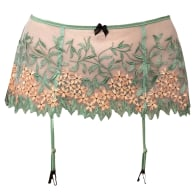 Grace Embroidered Tulle Garter Belt image