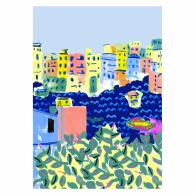 Cinque Terre Art Giclée Print A4 image