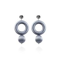 Saskia Earrings In Moondust Silver image