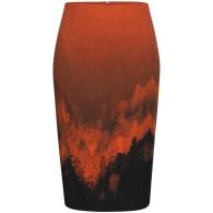 Flame Print Pencil Skirt image