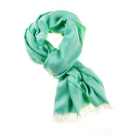 Marquee Spring Green Herringbone Cashmere and Silk Stole image