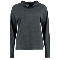 Deco Detail Organic Cotton Jersey Top In Grey image