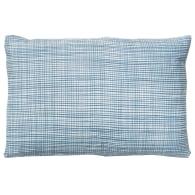 Slate grid linen cushion image