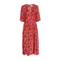 Tenzing - Cupro Dress Himalayan Pops Red Berries image