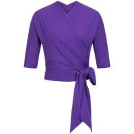 Wrap Top - Purple image