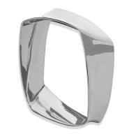 Lacerta Square Silver Bangle image